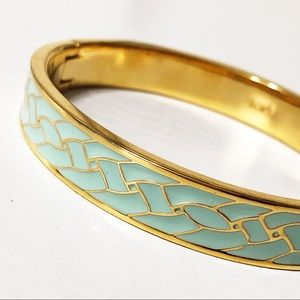 J. Crew • Enamel Lattice Hinged Bangle Bracelet